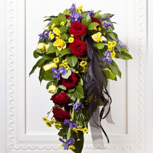 Funeral Bouquet with Ribbon