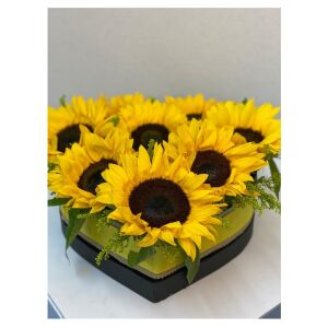 Sunflowers heart shaped